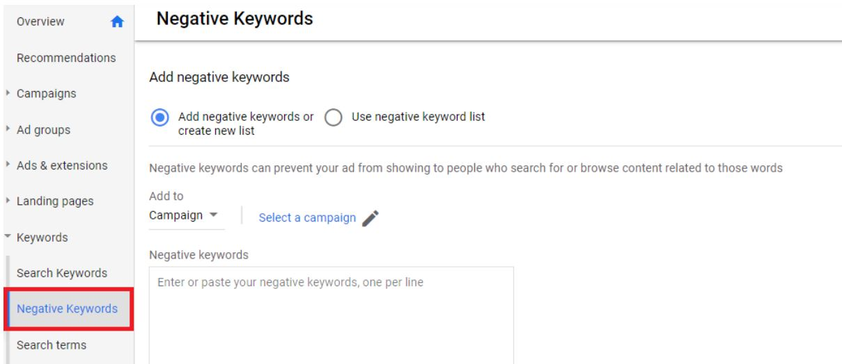 Negative letting agent keywords