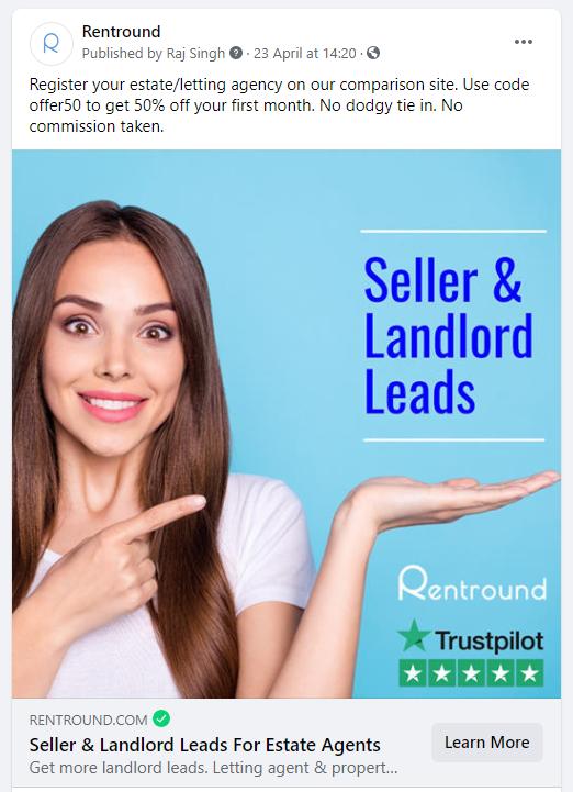 estate agent marketing on facebook