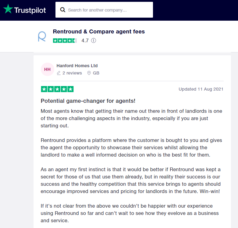 trustpilot for estate agents to get leads